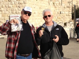 Rick Ives and Grant Edwards at Jaffa Gate